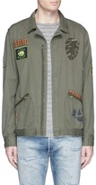 Scotch & Soda 'Worked-Out' army badge shirt jacket