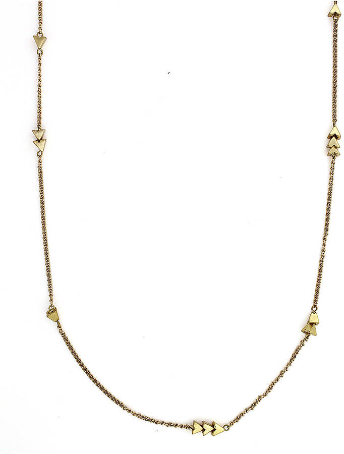 BCBGeneration Gold-Tone Arrow Station Necklace