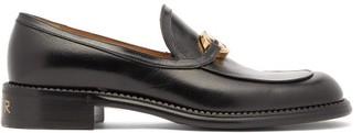 Gucci Zumi Gg-horsebit Leather Loafers - Black