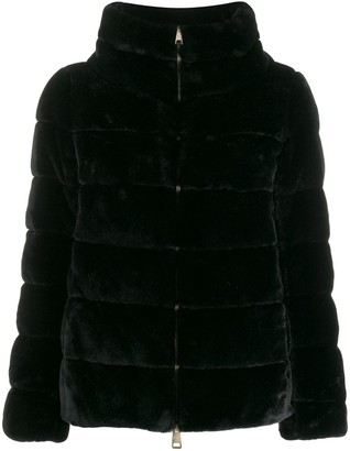 Herno Faux Fur Puffer Jacket