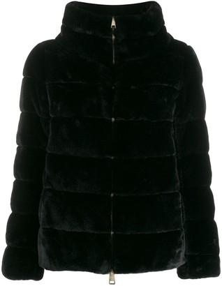 Herno faux fur puffer jacket
