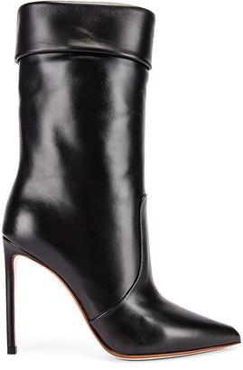 Francesco Russo Leather Booties in Black | FWRD