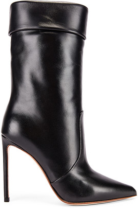Francesco Russo Leather Booties in Black | FWRD