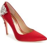 Badgley Mischka 'Gorgeous' Crystal Embellished Pointy Toe Pump