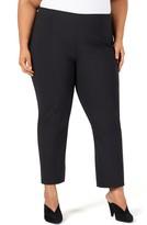 Pari Passu Flat Front Virgin Wool Blend Crop Pants
