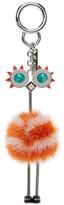 Fendi Orange Ostrich Keychain