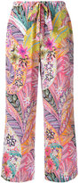Etro printed silk trousers - women - Silk - 42