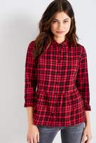 Jack Wills Highcliffe Check Peplum Shirt