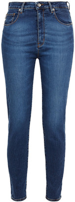 Love Moschino Faded High-rise Skinny Jeans