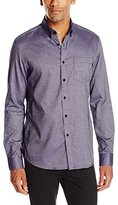 Kenneth Cole New York Kenneth Cole Men's Long Sleeve Texture Pocket Shirt