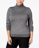 Calvin Klein Plus Size Marled Turtleneck Sweater