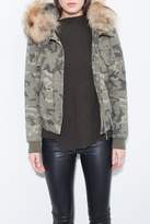 Generation Love Camo Fur Bomber