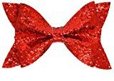 Girl's Sequin Fabric Bows Hair Clips Baby Hair Alligator Bows Pin By WuyiMC (Red)