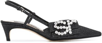 Sergio Rossi Icona pointed slingback pumps