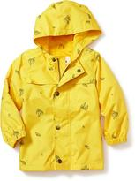 Old Navy Printed Hooded Raincoat for Toddler