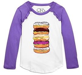 Chaser Girls' Cotton Donuts Raglan Top - Little Kid, Big Kid