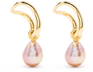 Charlotte Chesnais 18kt Yellow Gold Vermeil Pearl Slide Earrings