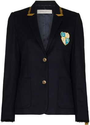Golden Goose Aria chest-patch blazer jacket
