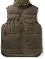 Filson Water-resistant Cotton-canvas Down Gilet - Green