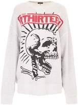 R 13 Exploited Punk Outline Sweatshirt