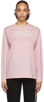 Burberry Pink Creuse Long Sleeve T-Shirt