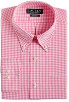 Lauren Ralph Lauren Men's Classic-Fit Non-Iron Pink Gingham Dress Shirt
