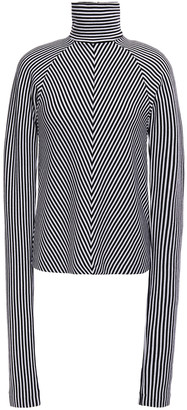 Haider Ackermann Striped Wool Turtleneck Sweater