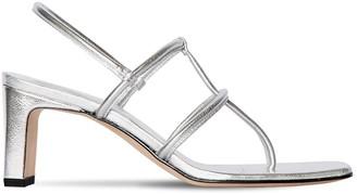 Dorateymur 65mm Metallic Leather Thong Sandals