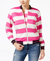 XOXO Juniors' Striped Bomber Jacket