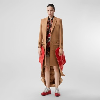 Burberry Camel Hair Tailored Coat with Detachable Gilet