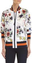 Rachel Roy Tropical Floral Bomber Jacket