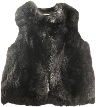 Les Petites Black Fox Jacket for Women