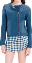 Max Studio Washed Indigo Knitted Jacket