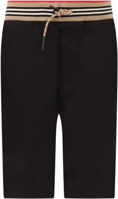 Burberry Black Short For Boy With Logo