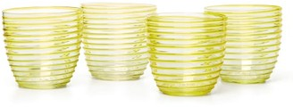 Yali Glass - Set Of Four Goto Tumblers - Yellow