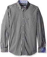 Nautica Men's Classic Fit Wrinkle Resistant Mineral Plaid Shirt