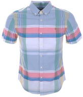 Farah Croxted Check Shirt Blue