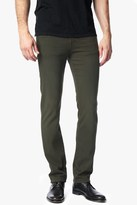 7 For All Mankind Luxe Performance Colored Denim Slimmy Slim Straight In Twig Green