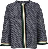 Bruno Manetti Knitted Tri-color Stripe Jacket