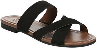 Naturalizer Crisscross Leather Slide Sandals -Treasure