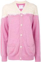 Sacai cable knit panel cardigan - women - Cupro/Wool - III