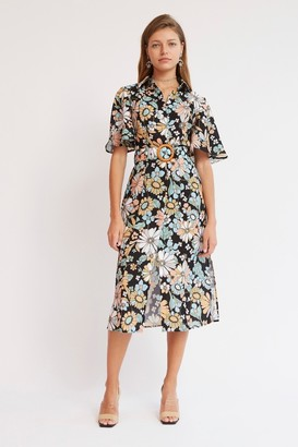 Finders Keepers SYLVIE DRESS Black Floral