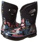 Bogs Classic Mid (Black Multi Winter Blooms) Women's Rain Boots