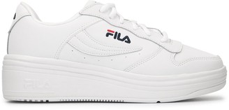 Fila chunky heel logo embroidered sneakers
