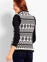 Talbots Artic Fair Isle Quilted Vest