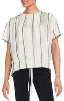 DKNY Short Sleeve Paneled Blouse