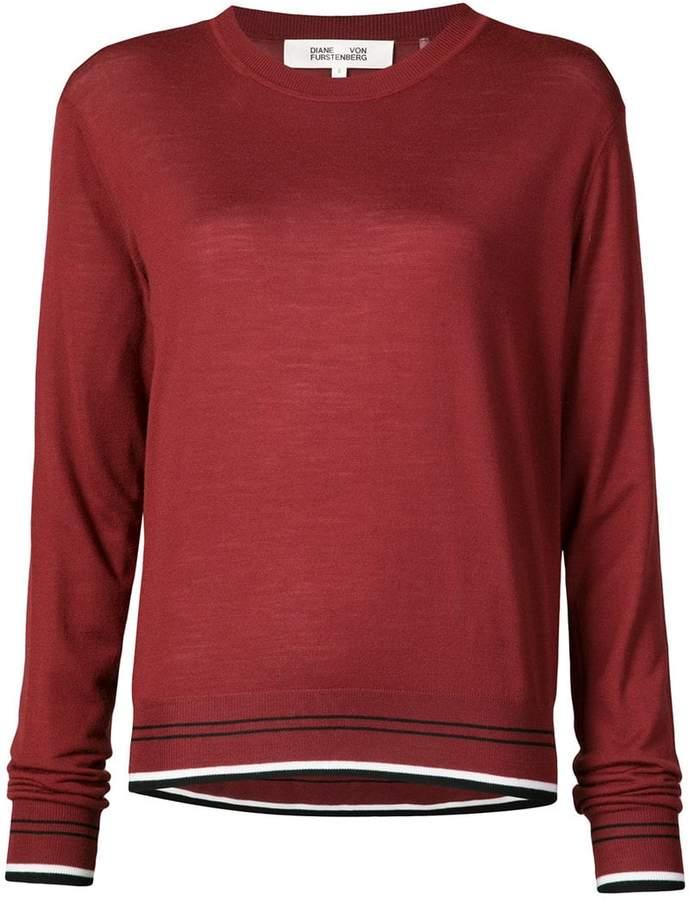 Diane von Furstenberg contrast hem knitted top