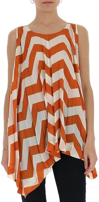 Issey Miyake Striped Pleated Top