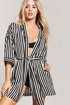 Forever 21 Striped Contrast Robe