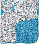 The Bonnie Mob Reversible Stretch-Organic Cotton Blanket-BLUE